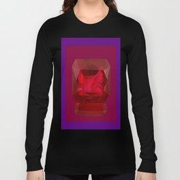Rich Purple Red July Birthstone Ruby Design Long Sleeve T-shirt
