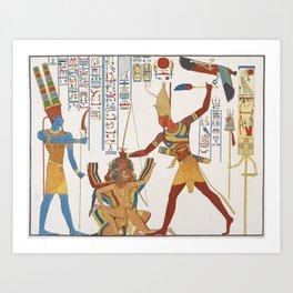 Vintage Egyptian gods artwork Art Print