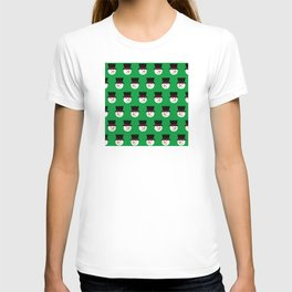 Christmas Snowmen With Top Hats Pattern T-shirt