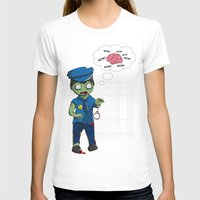 police T-shirts featuring Zombie Police by Jelo