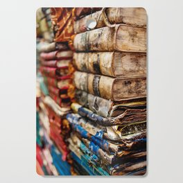 Stacks and stacks of books, Venice Italy Cutting Board