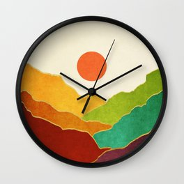 Minimal Landscape 11 Wall Clock
