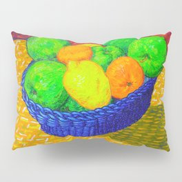 Still Life with Apples, Lemons, Oranges, and Pear Pillow Sham