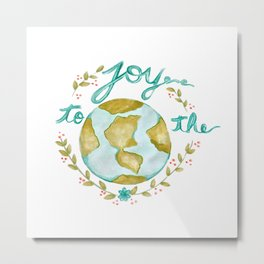 Joy to the World Christmas Metal Print