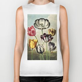 Tulips : Temple of Flora of New Illustration of the Sexual System Biker Tank