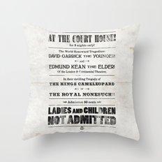 The Duke & The King Throw Pillow