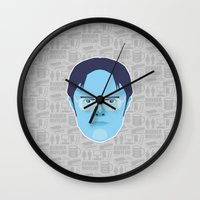 dwight schrute Wall Clocks featuring Dwight Schrute - The Office by Kuki