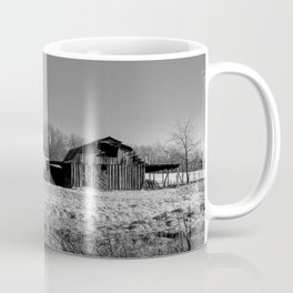 Days Gone By - Old Arkansas Barn in Black and White Coffee Mug