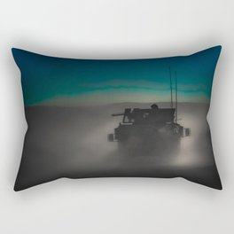 Heading off to a night mission.  Rectangular Pillow