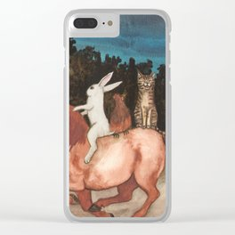 The Singing Cat Clear iPhone Case