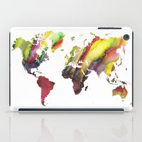 new order iPad Cases featuring World Map new order by jbjart