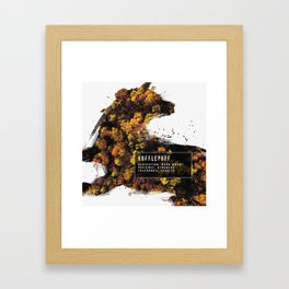 Hufflepuff Nature Framed Art Print