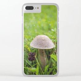 Mushroom in the Morning Dew by Althéa Photo Clear iPhone Case