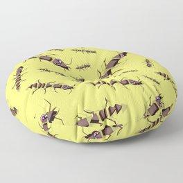 Ants erase and rewind Floor Pillow