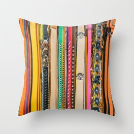 Fashion Belts Throw Pillow