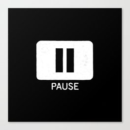 Pause Button Canvas Print