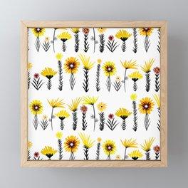 Sunny Days Ahead / floral art Framed Mini Art Print