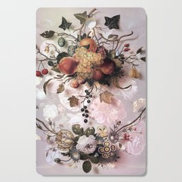 Victorian flowers and fruits Cutting Board