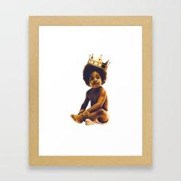 black life biggie Framed Art Print