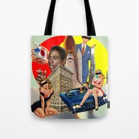 smoking Tote Bags featuring Smoking by TRASH RIOT