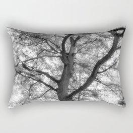 Tree Black And White Nature Photograph Rectangular Pillow