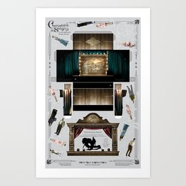 """Charlotte's Song"" Art Collectible - Paper Stage and Doll Set Art Print"
