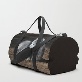 Gray Wolf at Rest Duffle Bag