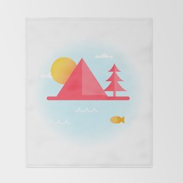 OCEAN TO SKY Throw Blanket