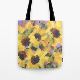 Golden Sunflower Bouquet Tote Bag