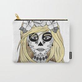 Santa Muerte Blond Carry-All Pouch