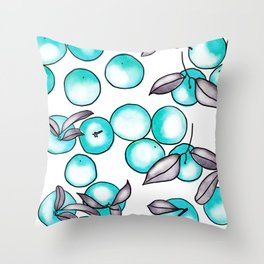Abstract clementines Throw Pillow
