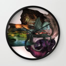 Cosmic Dust | Collage Wall Clock