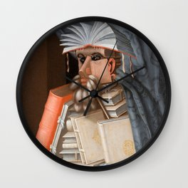 The Librarian - Giuseppe Arcimboldo Wall Clock