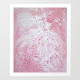 Tutu Rose Delight Art Print