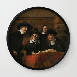 The Syndics of the Amsterdam Drapers' Guild Wall Clock