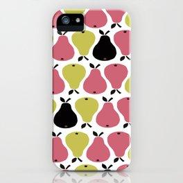 Retro Pears iPhone Case