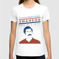 swanson T-shirts featuring Swanson 2012 by Clarke Hall