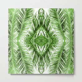 Tropical Palm Green Metal Print