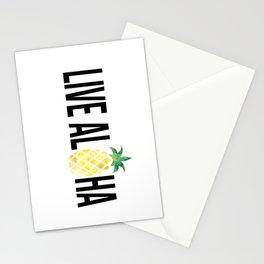 Live Aloha - Pineapple Stationery Cards