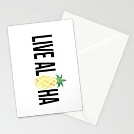 Live Aloha - Pineapple Stationery Cards