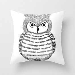 Tough Love Owl Throw Pillow