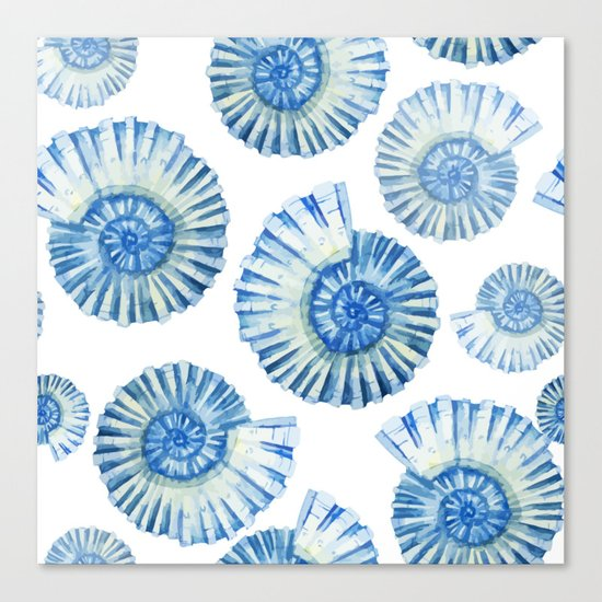 Sea Life Pattern 04 Canvas Print