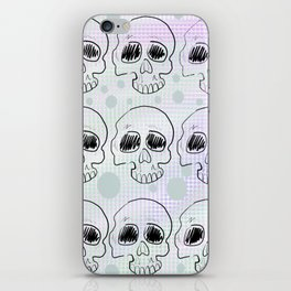 Rainbow skull pattern iPhone Skin