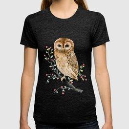 Watercolor Little Owl Portrait T-shirt