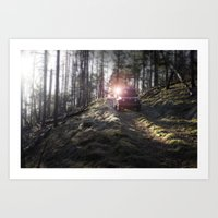 jeep Art Prints featuring Jeep by Allen Carroll Cook