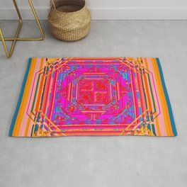 looking for something (with aqua) Rug