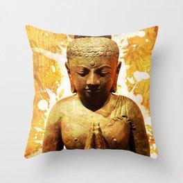 The Praying Buddha Throw Pillow