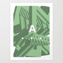 Geometric Calendar - Day 24 Art Print