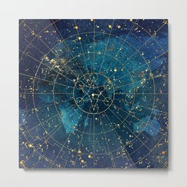 Star Map :: City Lights Metal Print