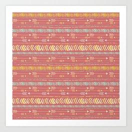 Red Arrow Pattern Art Print